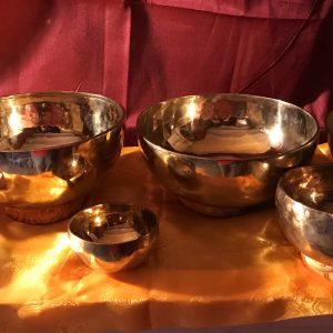 Chakrasæt (Blank) 7 skåle med køller og grundbog